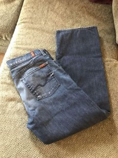 Seven for all mankind relaxed button fly jeans size 34