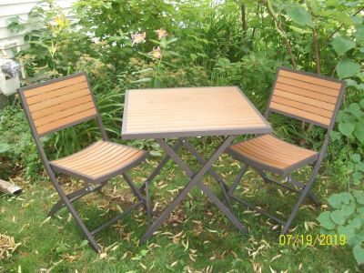 3-piece bistro table and chairs