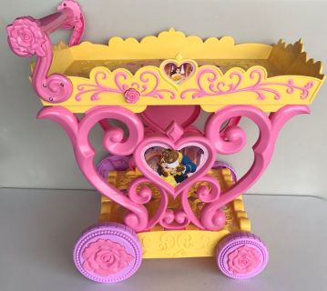 Like new Beauty & the Beast tea cart - it plays Be our guest
