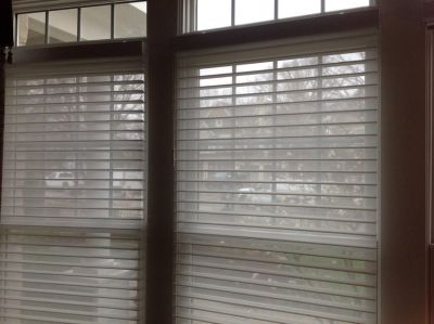 Window Treatments Lots of Hunter Douglas White Silhouette Shades