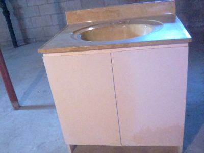 Bathroom vanity with Counter and Sink (New)!