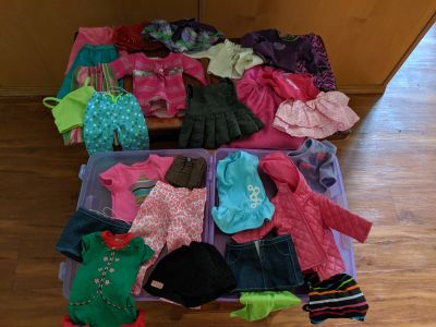 """Giant lot of 18"""" doll sized clothes for American girl/ Our Generation"""