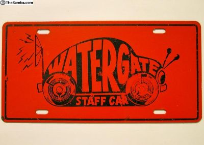 Vintage 1970s Watergate Bug License Plate