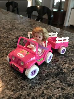 Barbie - Kelly Doll with Jeep and Trailer