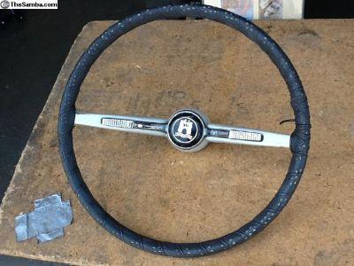 Original 1965 VW Bug white steering wheel