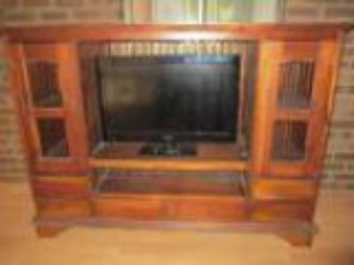 Wooden Hardwood TV Unit