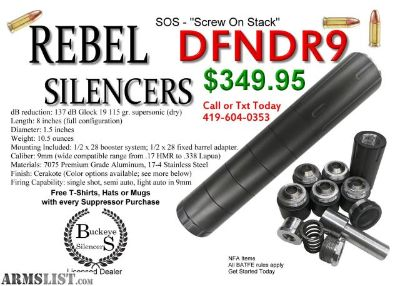 For Sale: Rebel Silencers Defender9 must see