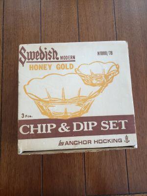 Vintage Chip and Dip Set