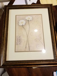 """Beautiful 24x20"""" picture in brown/goldish frame"""