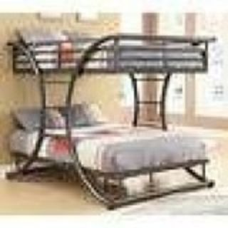 UNIQUE Adultchild Full over Full Bunk Bed-NEW