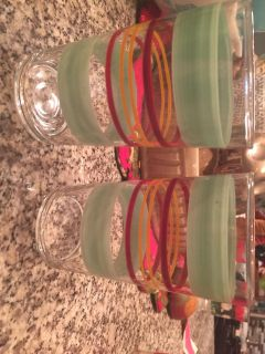 Vintage striped water glass