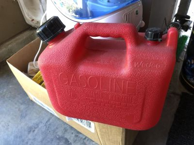 Free two gallon? Gas can- good for weed eater?