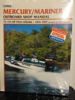 Sell CLYMER OUTBOARD SHOP MANUAL FOR MERCURY 75-275 hp 2-stroke - 1994 - 1997 ~ B724 motorcycle in Hollywood, Florida, United States, for US $27.99