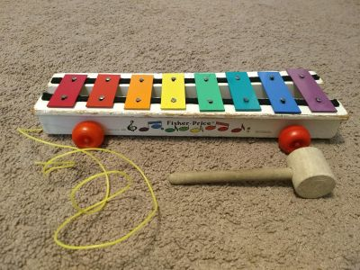 Vintage Fisher Price pull along xylophone