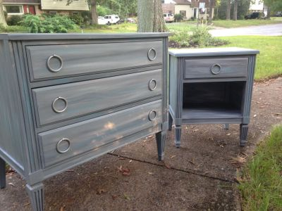 Dresser with Matching Bedside Table