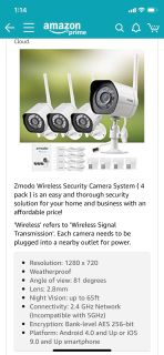 Security cameras, new in box, didn t work with current system. On amazon currently, for $120. New