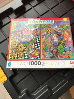 1 puzzle used, other still in bag, all pieces