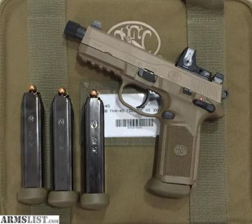 For Sale/Trade: Like new FNX 45T FDE with 4 Mags