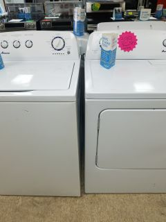 Amana washer dryer set white