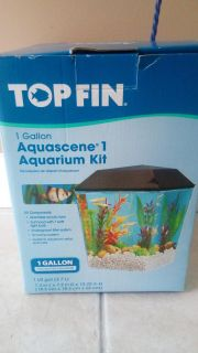 1 gallon aquarium. All pieces and net included.