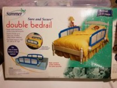 double bedrail for kids twin bed