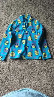 girls green soda fleece size 7/8