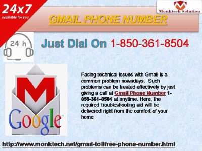 Gmail Phone Number for Canada Only 1-850-361-8504