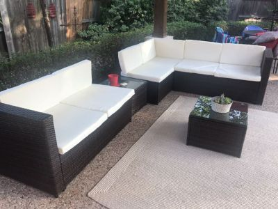 New sectional patio set 5 pieces