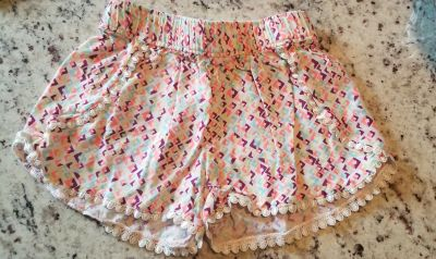 Super Cute Crazy 8 Shorts with scalloped edges