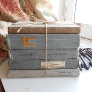 Antique French Grey Shabby Chic Book Bundle.