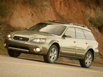 2005 Subaru Outback 2.5i (Satin White Pearl/Granite Gray Opal)