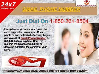Does Gmail Phone Number Available and Accessible All the Time @1-850-361-8504?