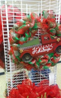 Truck holiday wreath