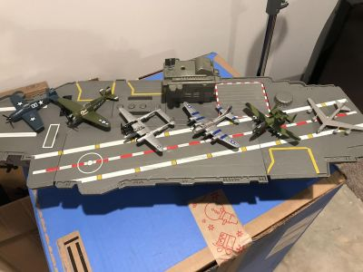 Large Aircraft Carrier and Planes