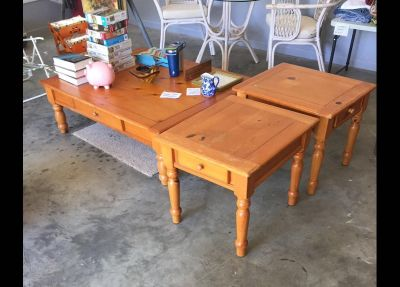 Coffee table and matching EMS tables