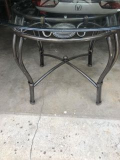 OBO - 48 round glass dining table