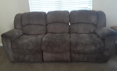 (2) reclining sofa / couch