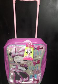 Minnie Mouse Rolling Backpack 12.00