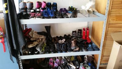 Various kids and women's shoes