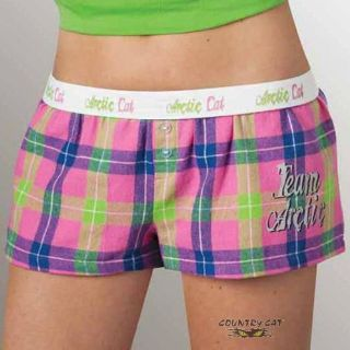 Find Arctic Cat Junior's Team Arctic Plaid Flannel Boxers - Pink - 5253-37_ motorcycle in Sauk Centre, Minnesota, United States, for US $11.99