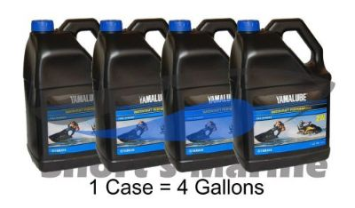 Find Yamaha Yamalube 2W 2-Stroke Waverunner Oil Case of 4 Gallons LUB-2STRK-W1-04 motorcycle in Millsboro, Delaware, United States, for US $107.97