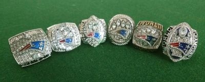 Patriots 6pc Championship Rings