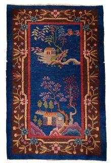 Handmade antique Art Deco Chinese rug, 1B375