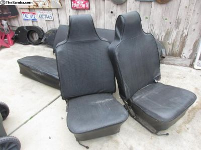 68 to 71 bug high back seats complete set