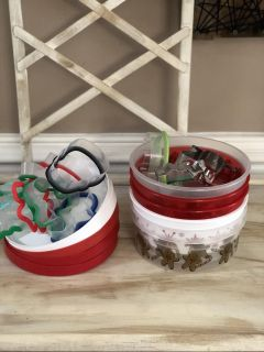 Holiday sweets containers and cookie cutters