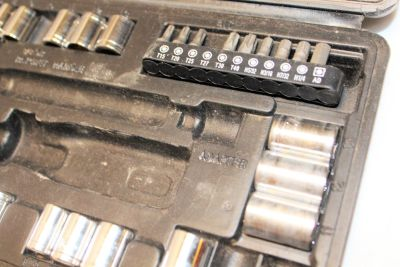"Ultra Steel Socket Set Mixed Carry Case 1/2"" 1/4"" 3/8"" 6 point Rachet SAE Metric"