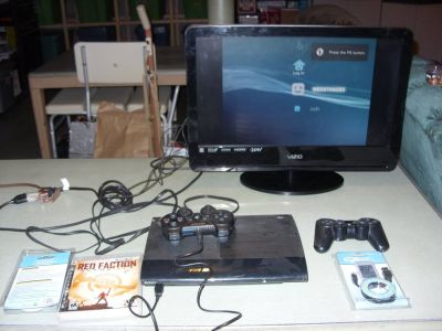 playstation 3 & red faction game