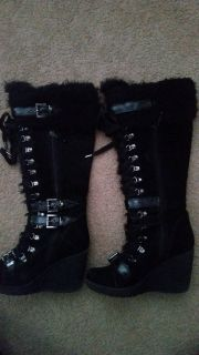 aldo lace wedge boots size 38
