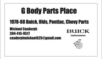 1978-88 G Body Parts