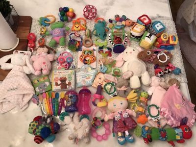 Baby toys and feeding items